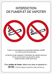 A5 - CONSIGNE INTERDICTION DE FUMER/VAPOTER